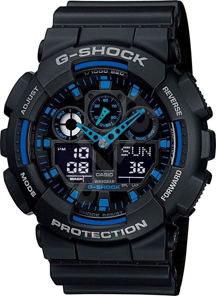 Casio G-SHOCK GA 100-1A2 - Pánské hodinky  3d2d2cf07f