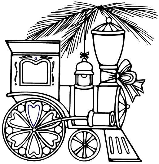Train Coloring Pages For Christmas Train Coloring Pages For