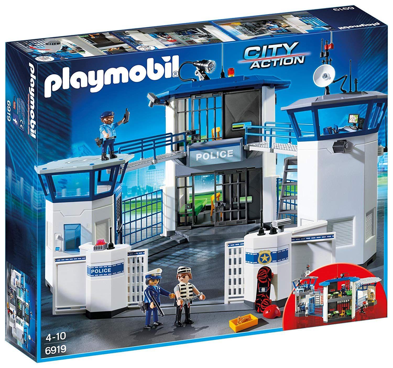Playmobil 6919 0 Polizeistation Mit Gefangnis Spielset Spielzeugtester De Baumarkt En 2020 Commissariat De Police Playmobil City Play Mobile