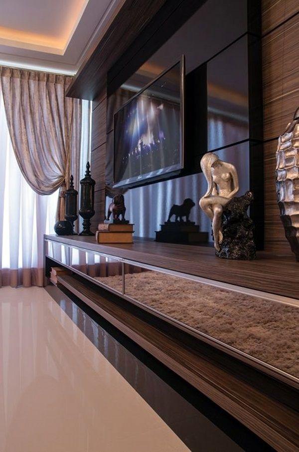 8 Tv Wall Design Ideas For Your Living Room: 40 Unique TV Wall Unit Setup Ideas