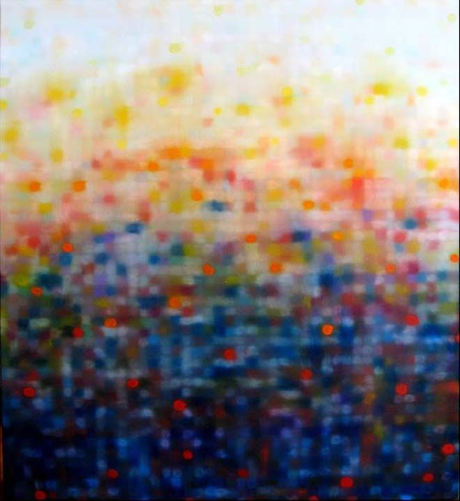 Amazing abstract painting by Matthew Johnson (Australia) now available from Thierry B. Fine Arts, Prahran
