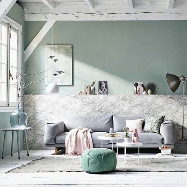 Gorgeous Light Green And Grey Color Scheme With Complementing