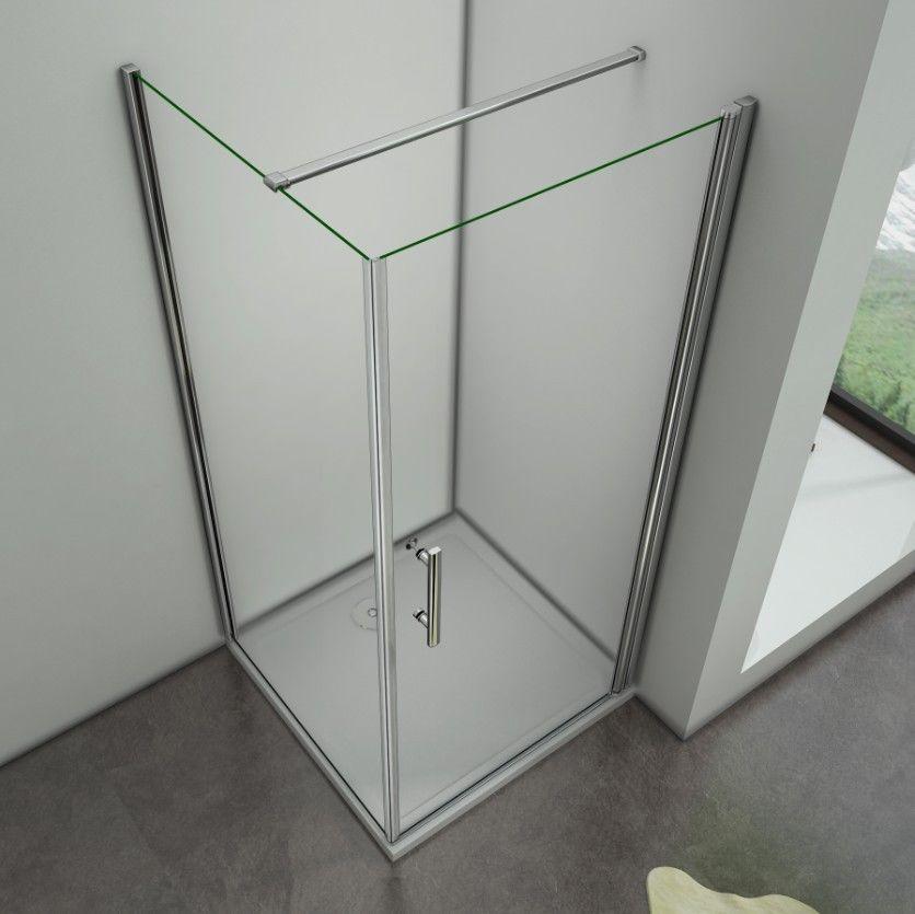 80x90cm Duschkabine Duschabtrennung Drehtür Nano ESG Glas