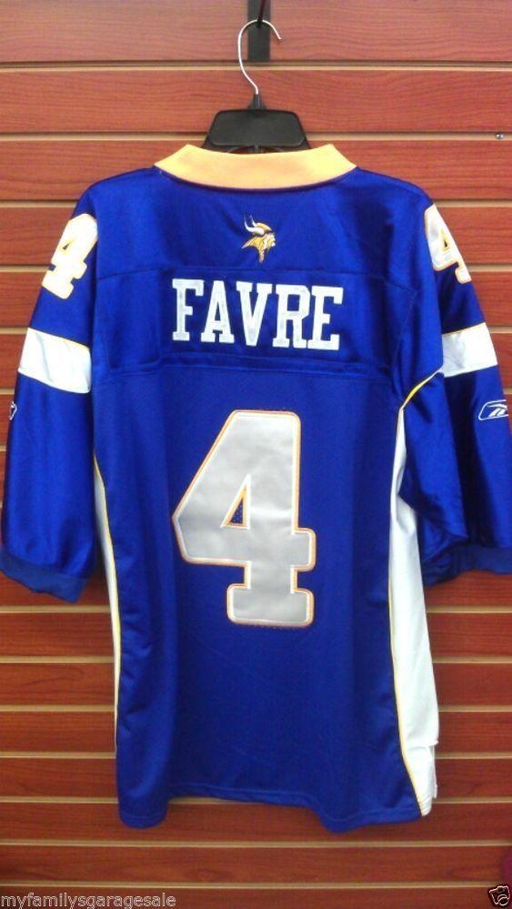 hot sales e0207 48583 Reebok Minnesota Vikings #4 Brett Favre Jersey Size 54 ...