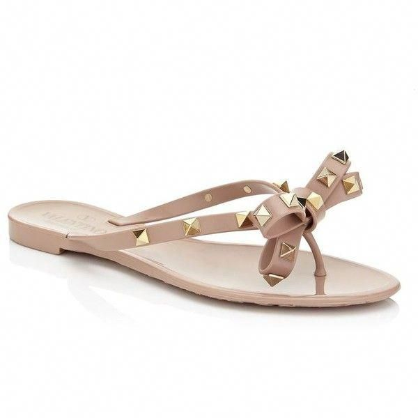 c781092d234e Valentino Rockstud Flip Flop ( 250) ❤ liked on Polyvore featuring shoes