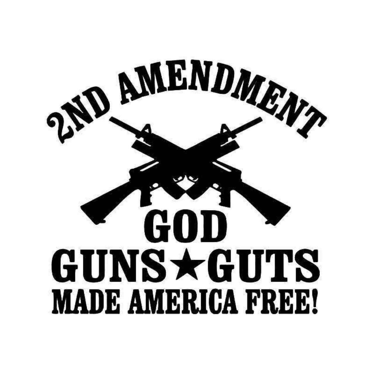 2nd Amendment Guns Sticker