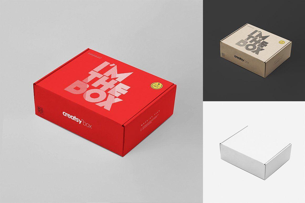 Download Mailing Box Mockup Set Box Mockup Box Template Creative Market