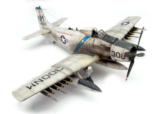 1/48 Tamiya A-1H Skyraider by Vince Pedulla