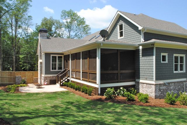 Back Patio Screened Porch Traditional Porch