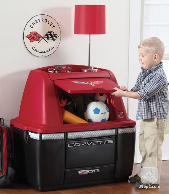 Corvette Storage Chest Kids Furniture By Step2 Toy Storage Bins Storage Kids Storage