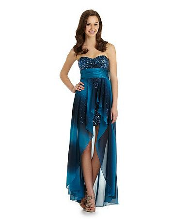 Xtraordinary Strapless Sequin Hi-Low from Dillards Homecoming 2013 Collection