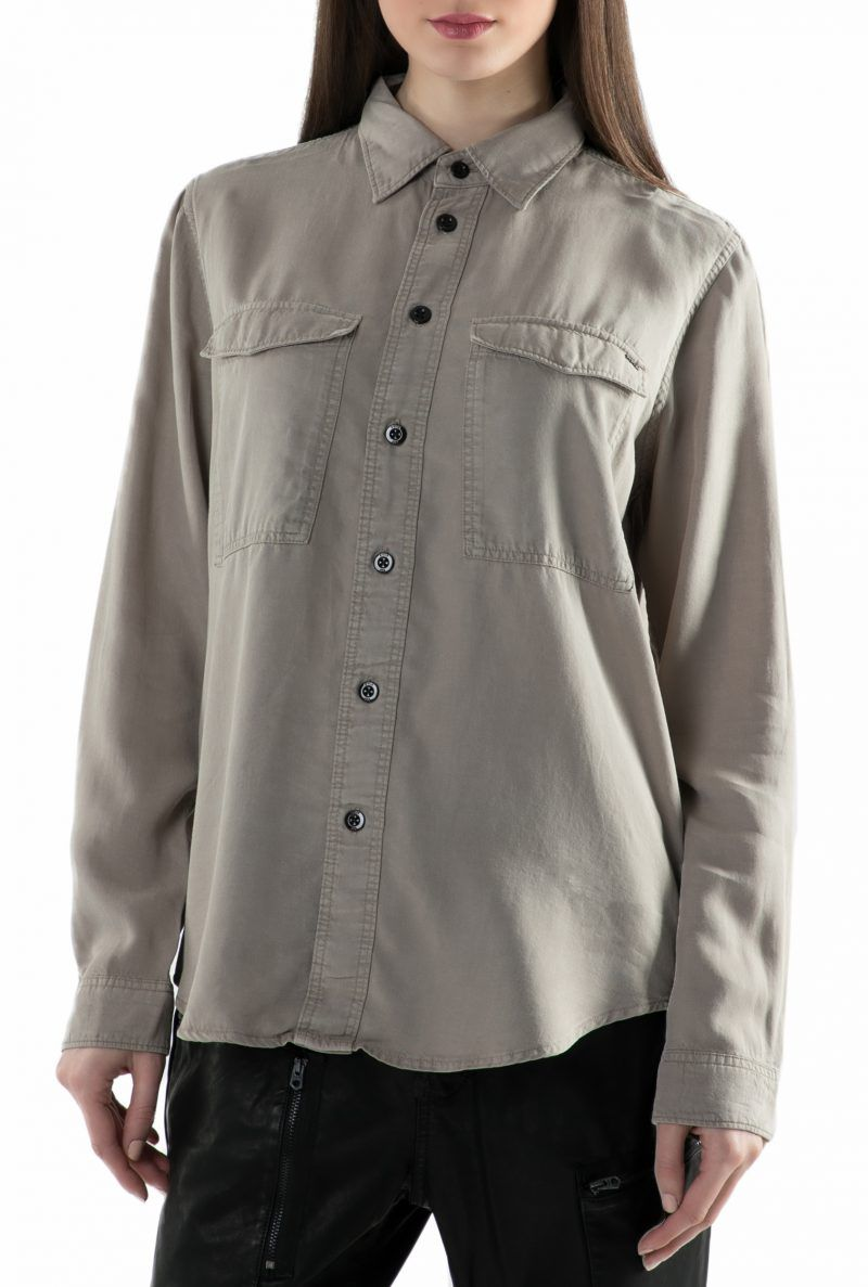 f54f8ccb2c G-STAR RAW - Γυναικείο μακρυμάνικο πουκάμισο G-Star Raw μπεζ ...