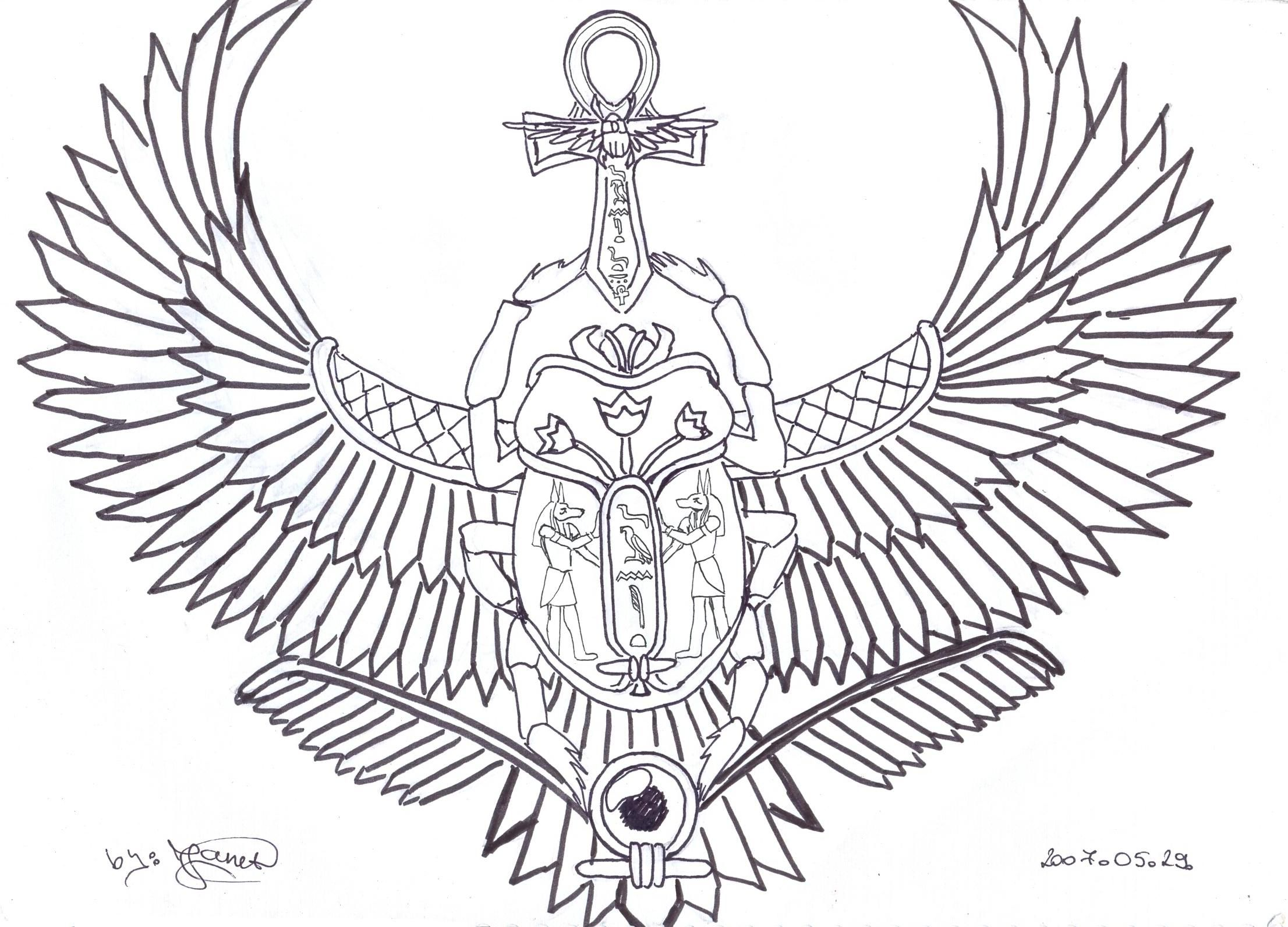 Holding The Ankh On My Back Scarab Tattoo Egypt Tattoo Beetle Tattoo