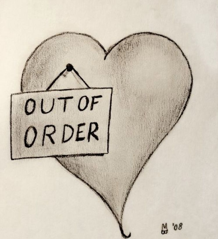 Easy Broken Heart Drawing