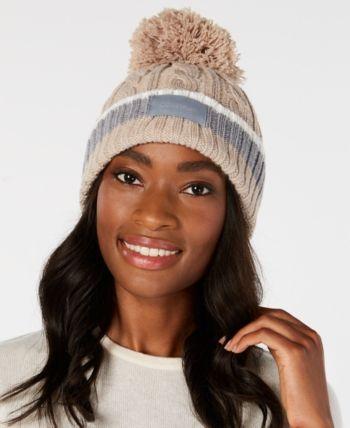 2ba81dad Pom Pom Cable-Knit Beanie in 2019   Products   Knit beanie, Beanie ...