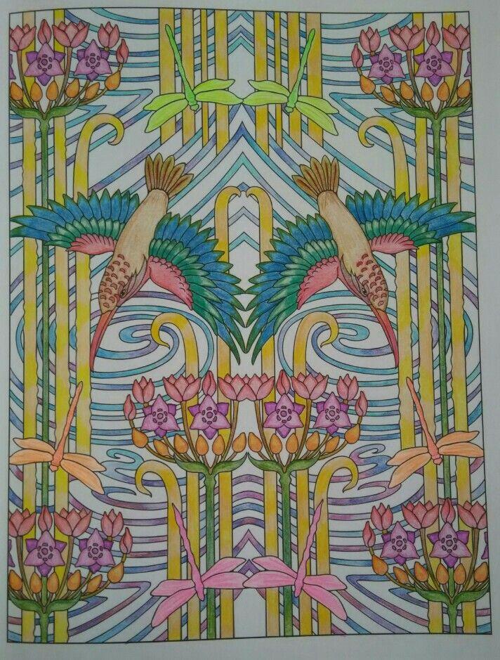 Creative Haven Art Nouveau Animal Designs Colouring Book