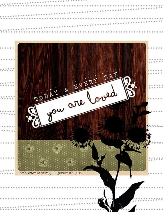 You are Loved Notecard Blank Inside by greensJOY on Etsy, $6.00 for 3.