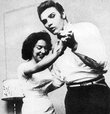 """Elvis in Jacksonville in August 10 1956 with """"win a date with Elvis"""" contest winner, Andrea June Stephens.."""
