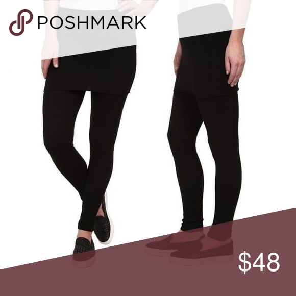 M-Rena Ankle Length Rayon Leggings with Skirt Attached