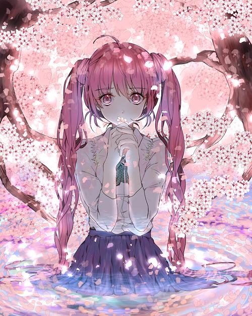 Sakura Miku Anime kızları, Çizimler, Anime