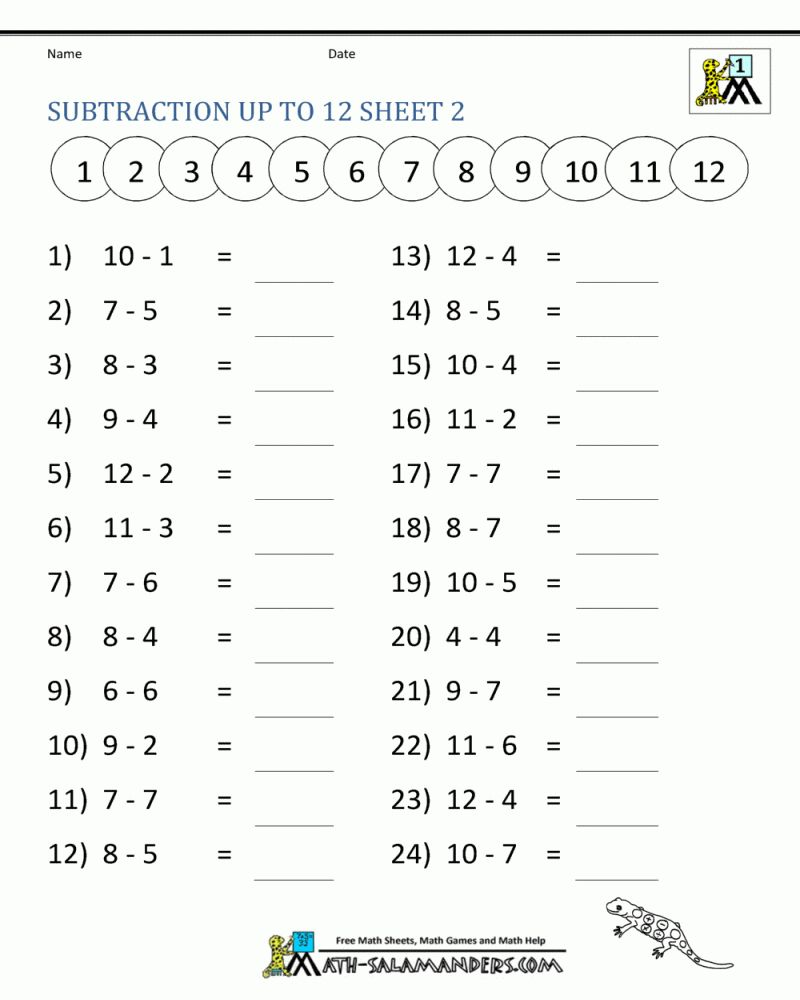 Printable 1st Grade Phonics Math Worksheets in 2020