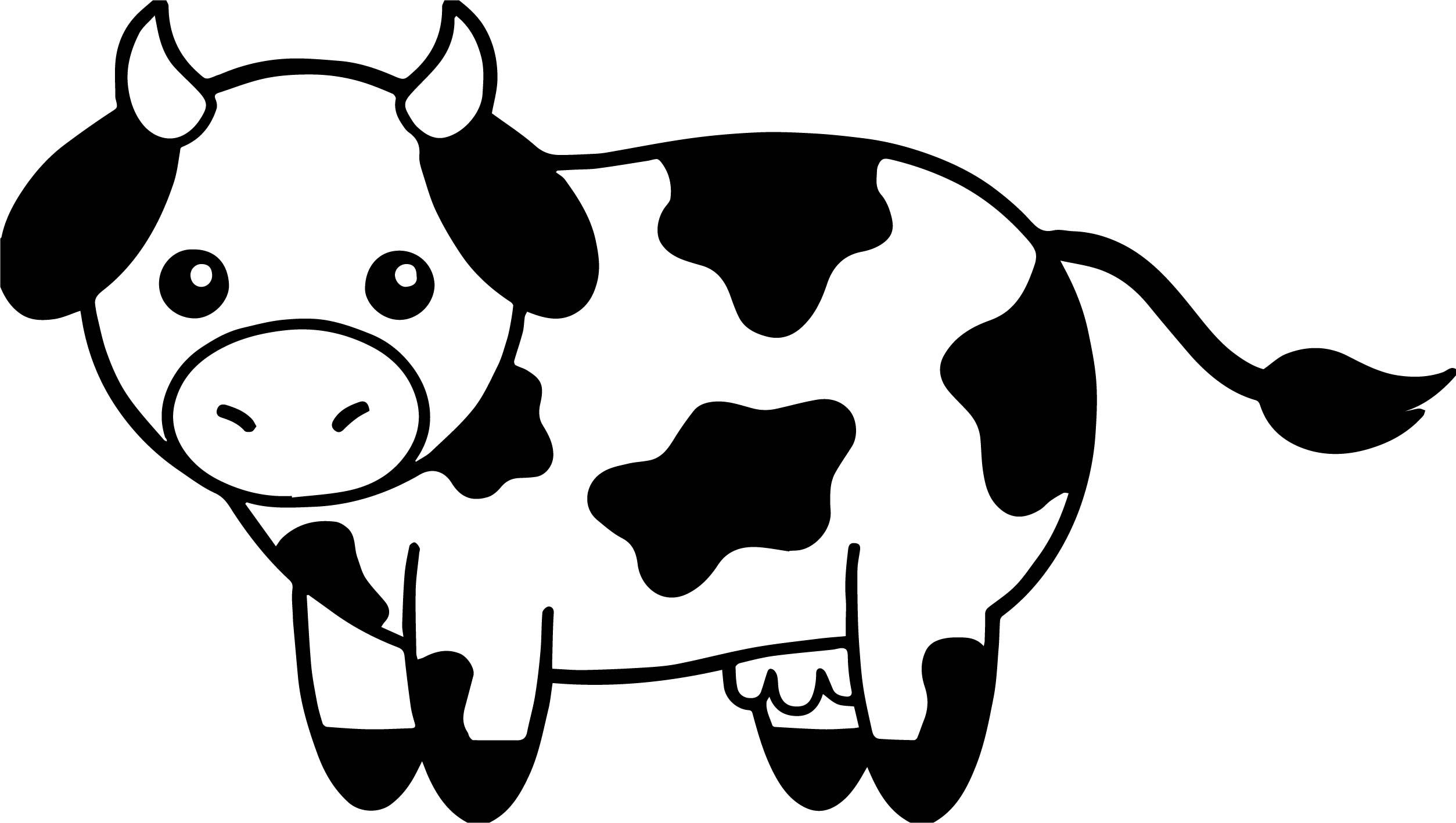 Cow Head Black And White Family Coloring Page Family Coloring