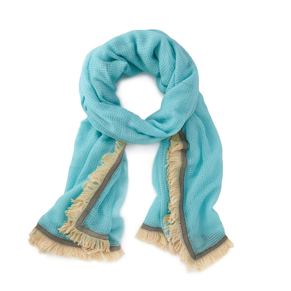 a723ab2e7 Poolside Aqua Scarf in 2019 | Products | Aqua, Summer scarves, Loom