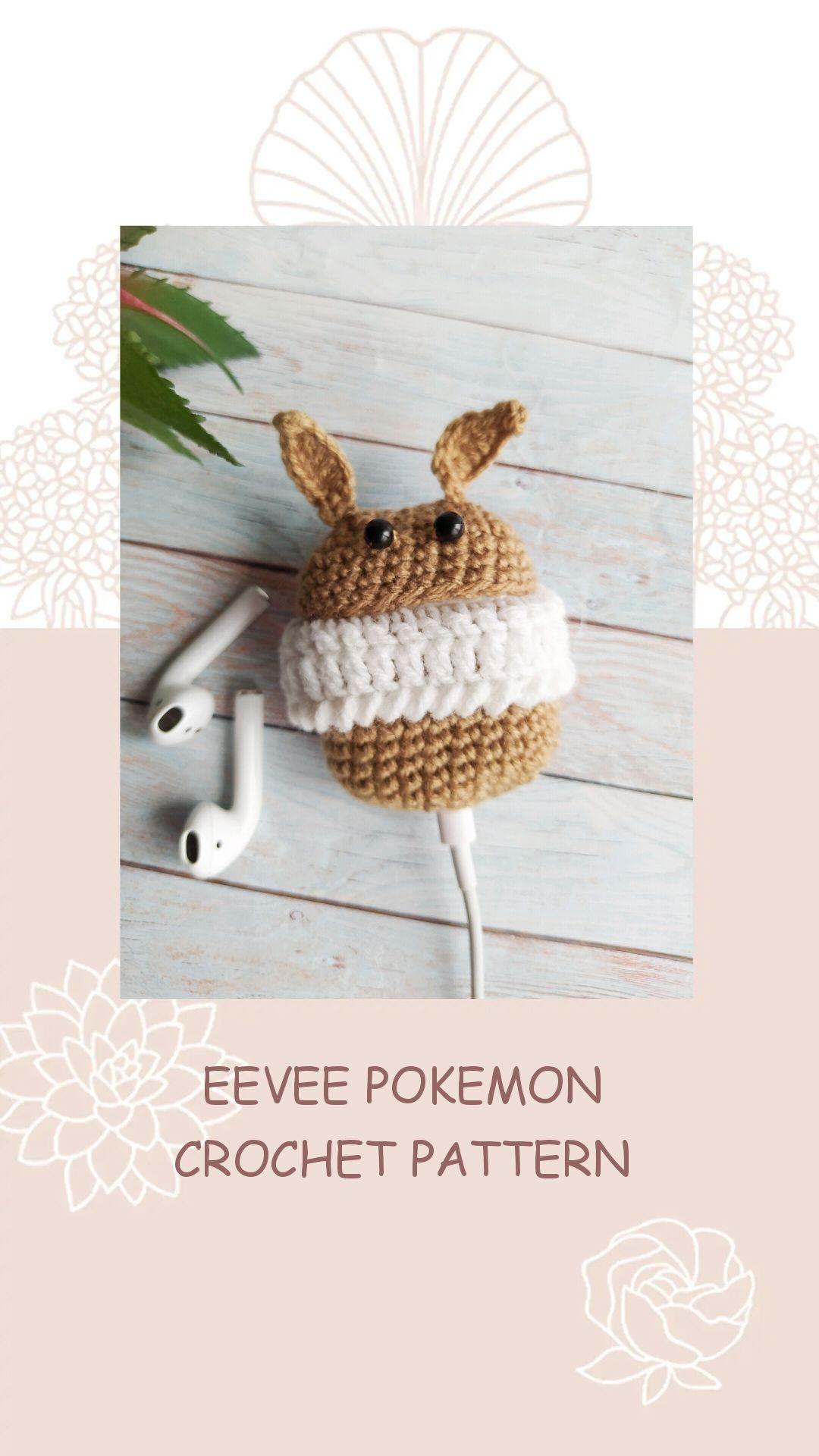 Cute Crochet Pokemon Eevee Amigurumi Crochet Pattern For Etsy In 2020 Crochet Pokemon Pokemon Crochet Pattern Crochet Patterns