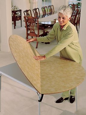 Card Table Extender. Turn A Square Card Table Into A Round Table With Room  For