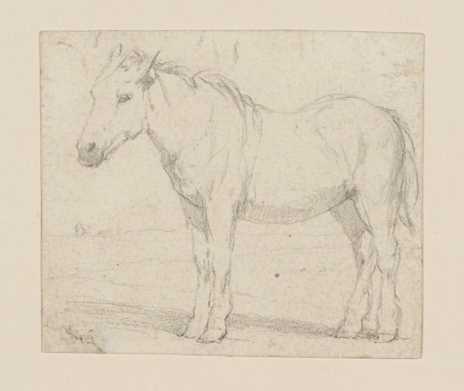 Pseudo John Sell Cotman 'A Farm Horse', date not known