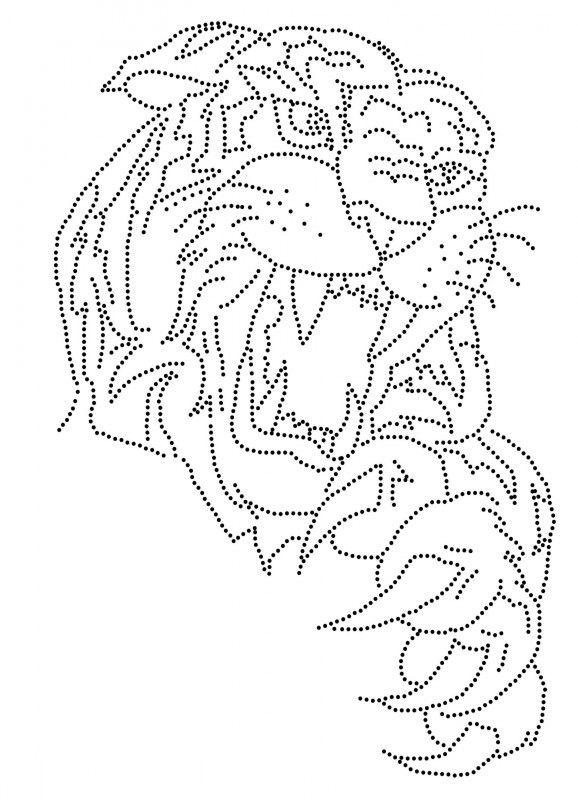 tijger fadenkunst muster fadenkunst und fadengrafik vorlagen