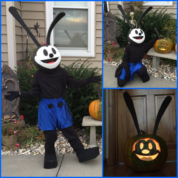 Oswald The Lucky Rabbit Halloween Costume and Pumpkin : oswald the lucky rabbit costume  - Germanpascual.Com