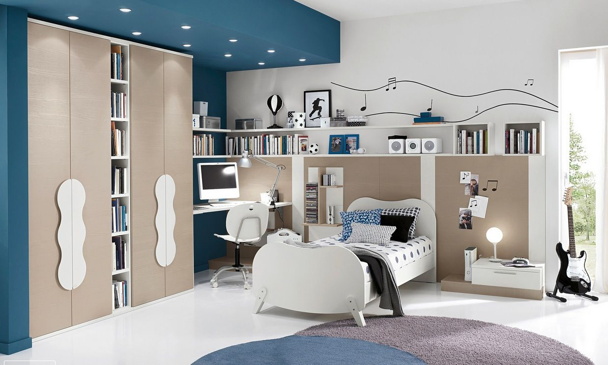 modern kids bedroom design with perfect furniture decoration