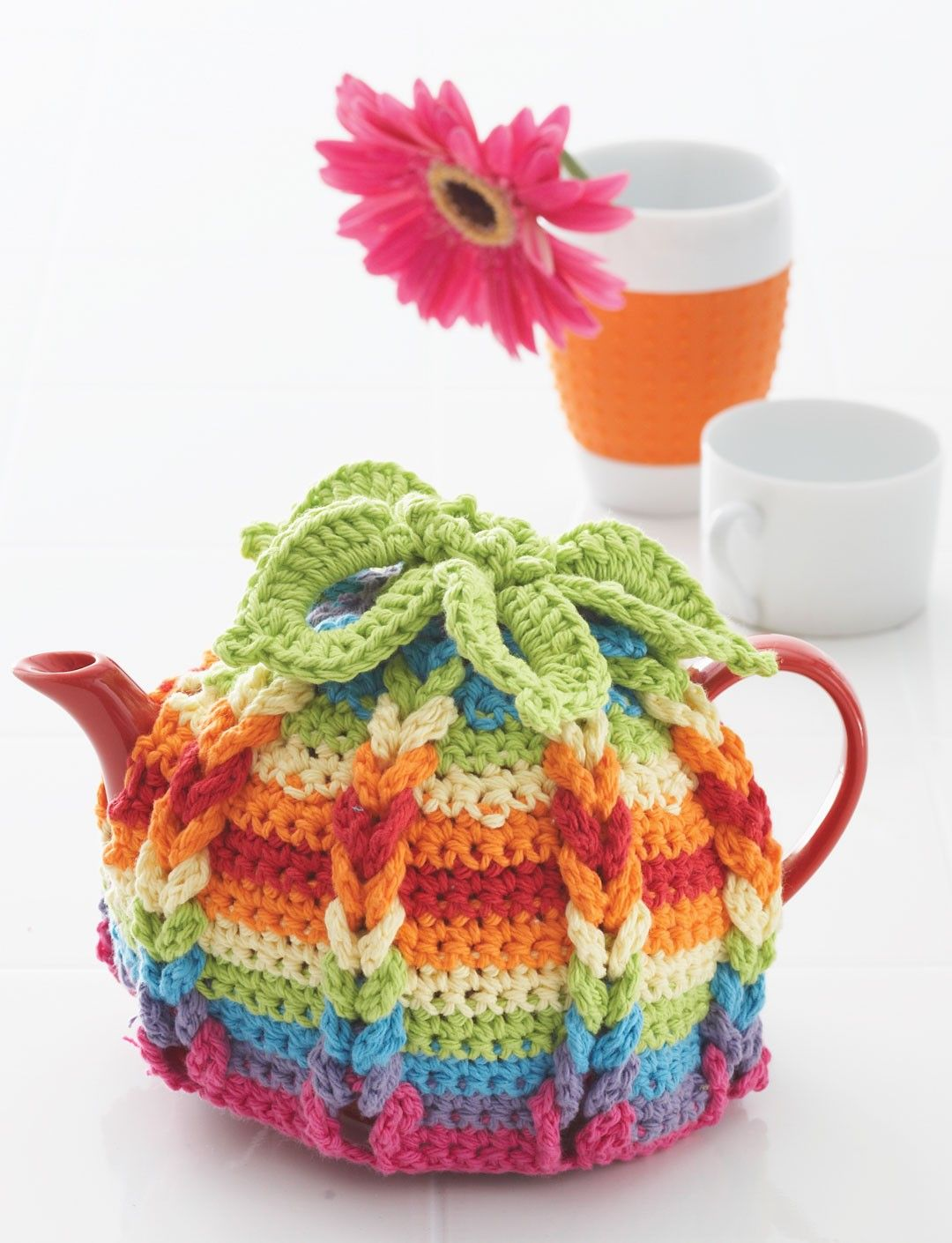 Yarnspirations.com - Lily Hot Hibiscus Tea Cozy | Yarnspirations ...