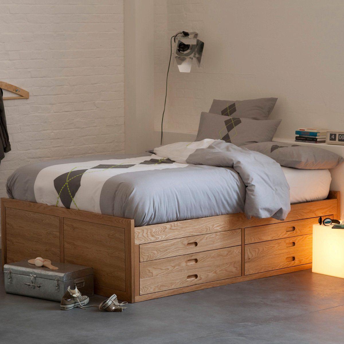 lit plateforme ch ne octavo. Black Bedroom Furniture Sets. Home Design Ideas