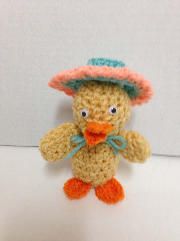 Standing Easter Duck Crochet Pattern Crochet Duck With Easter