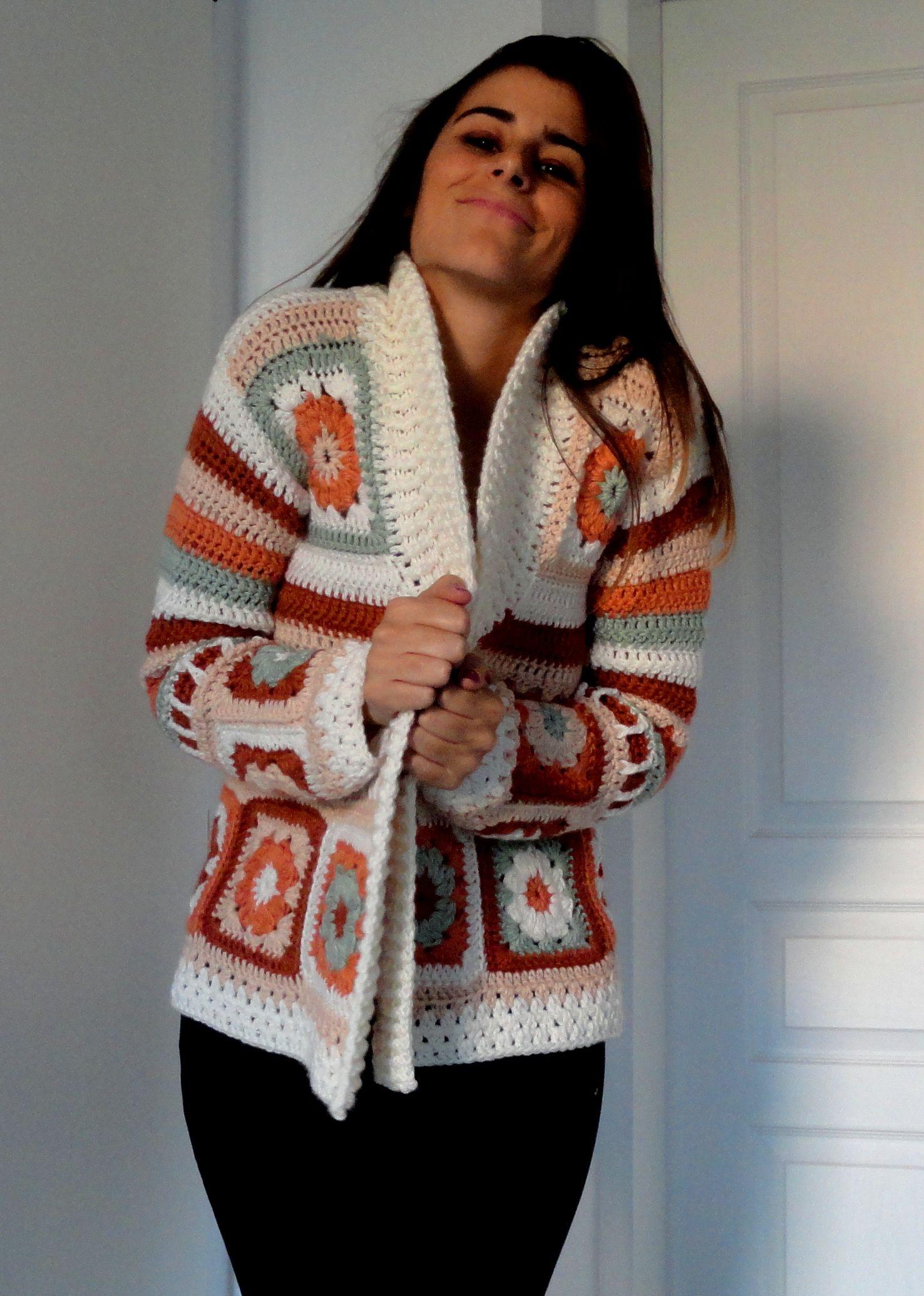 saco cuadrados crochet | Patrones suéter | Pinterest | Cuadrados ...