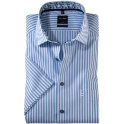 Photo of Olymp Luxor short sleeve shirt, modern fit, Global Kent, Bleu, 38 Olymp