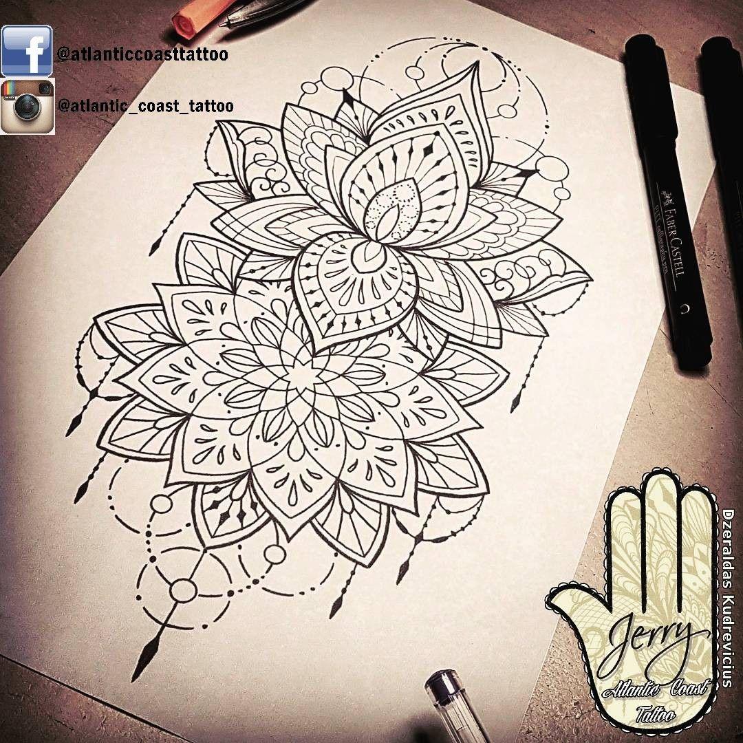 Photo of Beautiful lotus mandala tattoo idea by dzeraldas jerry kudrevicius from Atlantic…