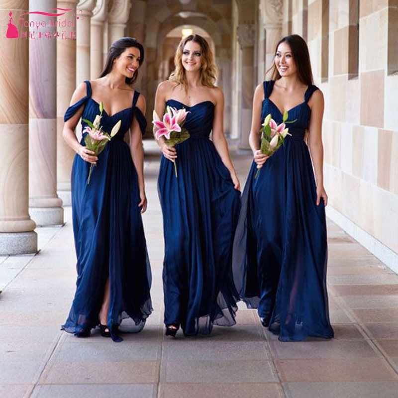 Find More Bridesmaid Dresses Information About Dark Blue Bridesmaid Dress Of Royal Blue Bridesmaid Dresses Navy Blue Bridesmaid Dresses Long Bridesmaid Dresses,Low Back Open Back Backless Wedding Dresses