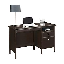 Realspace Chase 47 W Writing Desk Dark Chestnut Item 941494