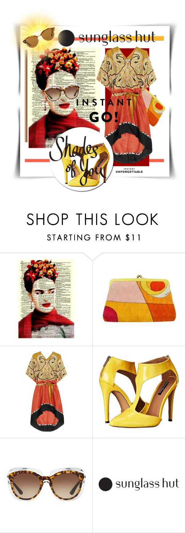 """""""Shades of You: Sunglass Hut Contest Entry"""" by kari-c ❤ liked on Polyvore featuring Emilio Pucci, Etro, Michael Antonio, Dolce&Gabbana, Ray-Ban and shadesofyou"""