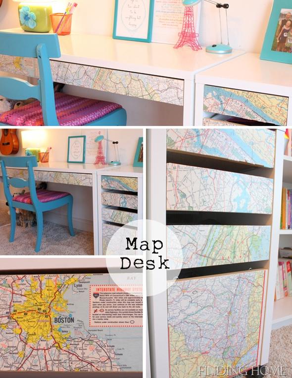 Todo lo que necesitas es algunos mapas y Mod Podge para recrear el ...
