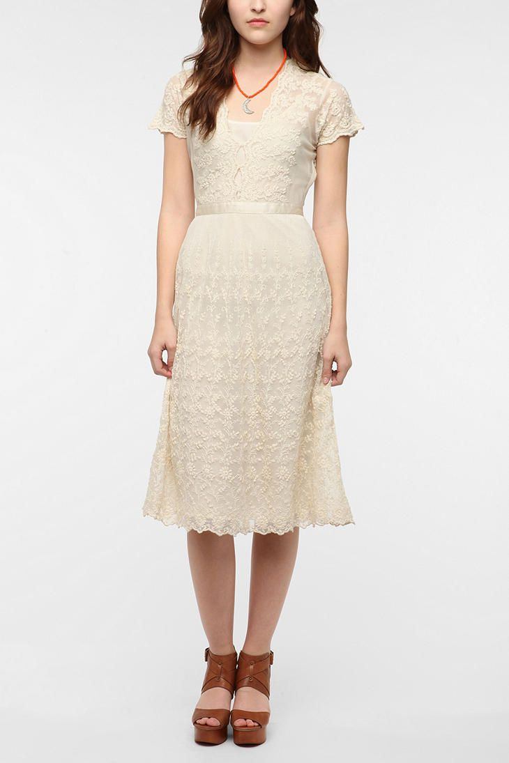 Cream lace dress urban outfitters