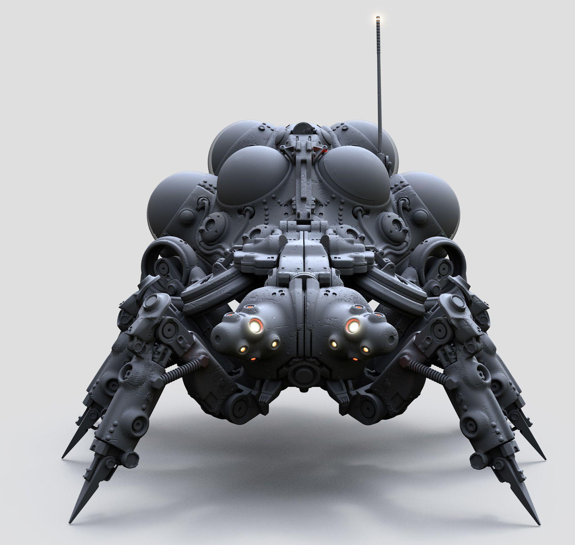 ArtStation - Mech per day: Robot nr3 AO renders, Tor Frick | concept ...