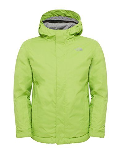 7c9f545362 The North Face North Face Youths Snow Quest Ski Jacket, Green/Chive Green,