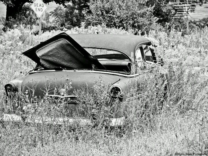 Artistic Abandon Old Abandoned 1950s Car In Black And White