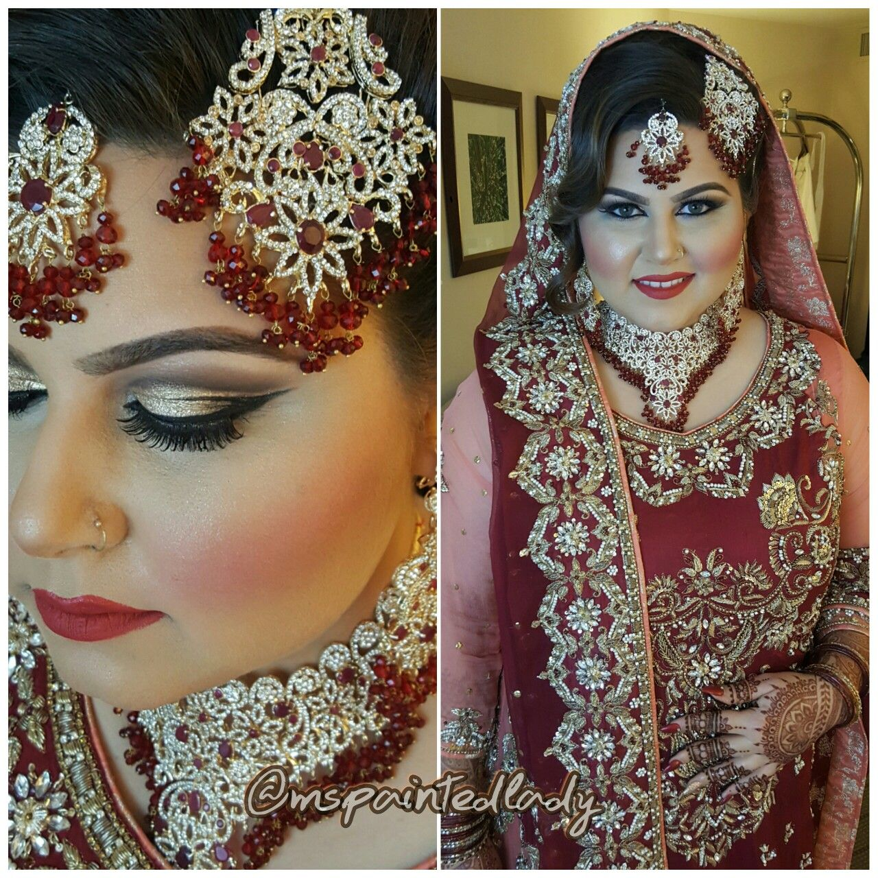 dupatta setting #desi bridal makeup and hair. dallas indian bride