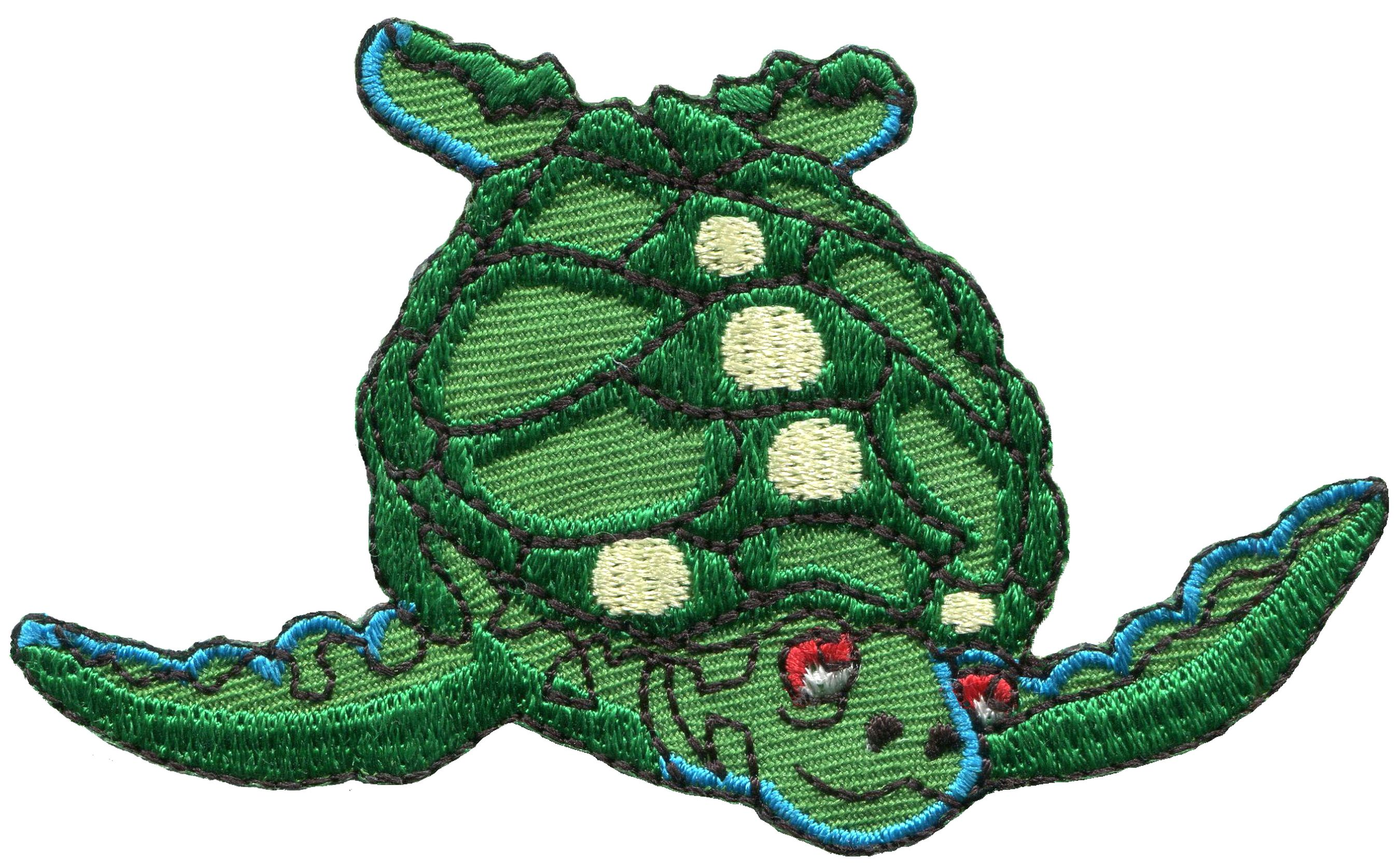 Sea Turtle Embroidered Patch Iron or Sew-on 2 PC