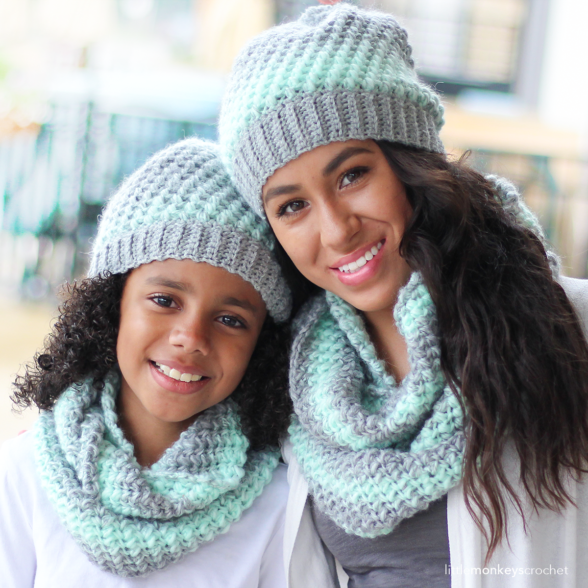 You will be so warm and cozy in this super soft scarf and hat set landon slouch hat and scarf free crochet patterns lion brand scarfie and wool ease yarns bankloansurffo Image collections